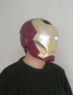 吐血奉送 钢铁侠1 1 绝对可戴 头盔,纸模3d图纸 想制作的 高清图片