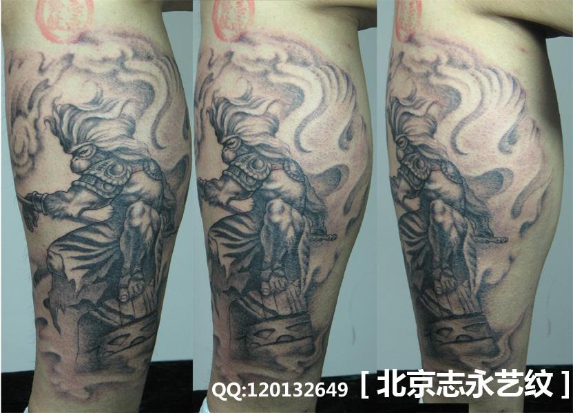 斗战神佛手臂纹身手稿分享展示图片