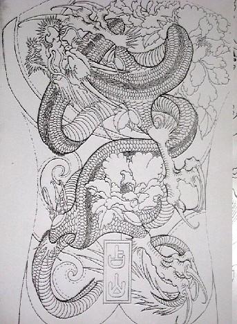 麒麟上臂纹身图案手稿分享展示图片