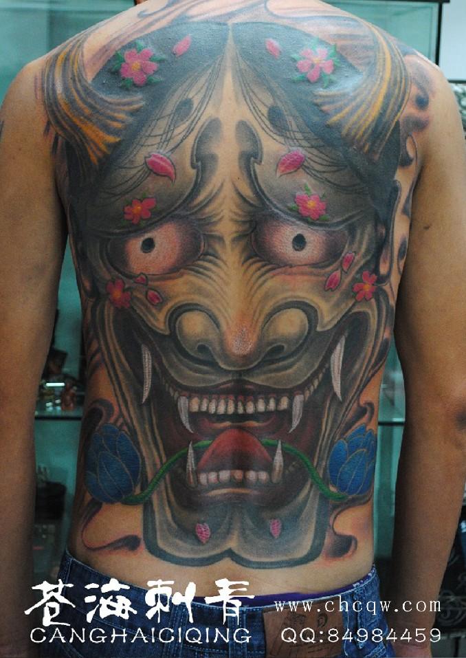 班诺纹身艺妓图案分享展示 (678x957)图片