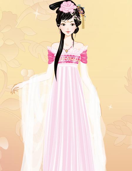 想要一些古代女子裙子的名称,简单一些,像罗裙,襦裙之类的,最好还有描图片