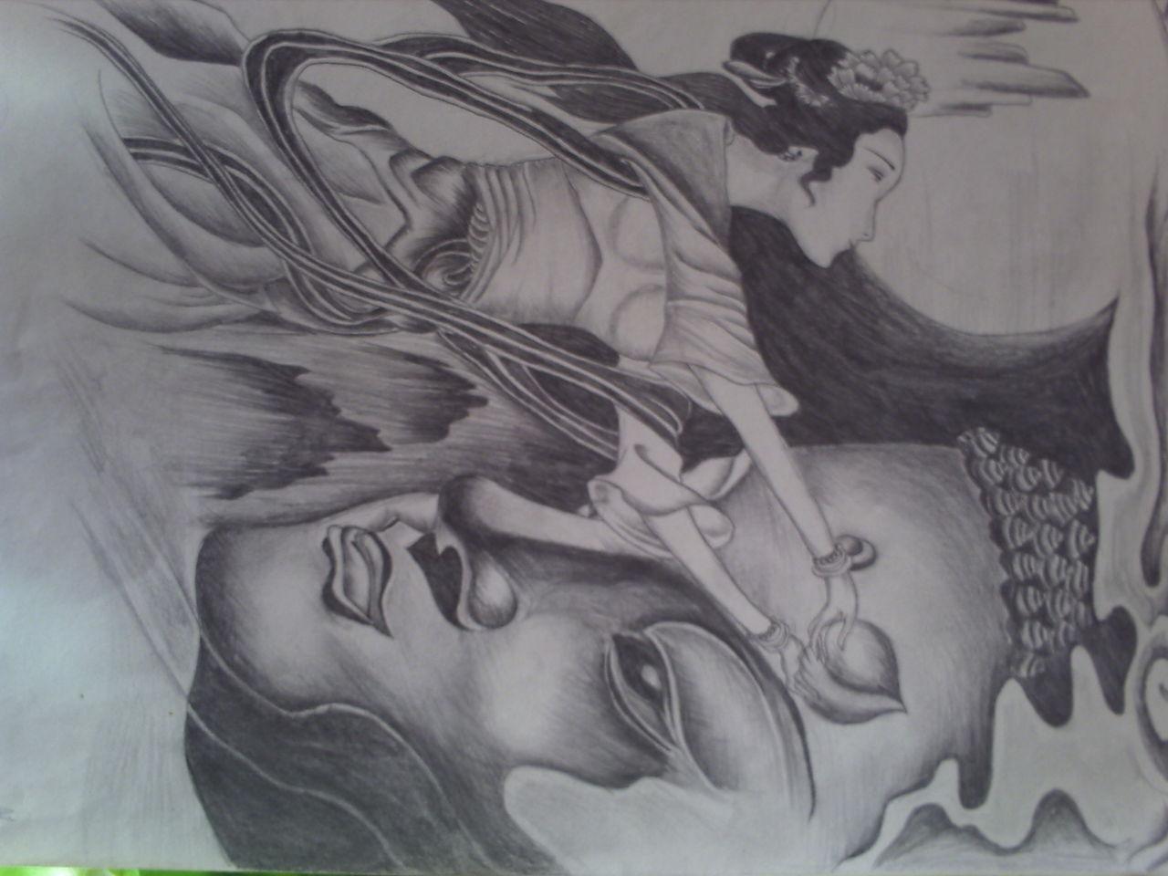 仙女纹身手稿图分享展示图片