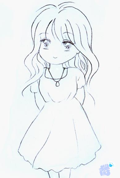 想送给女生一幅素描当生日礼物