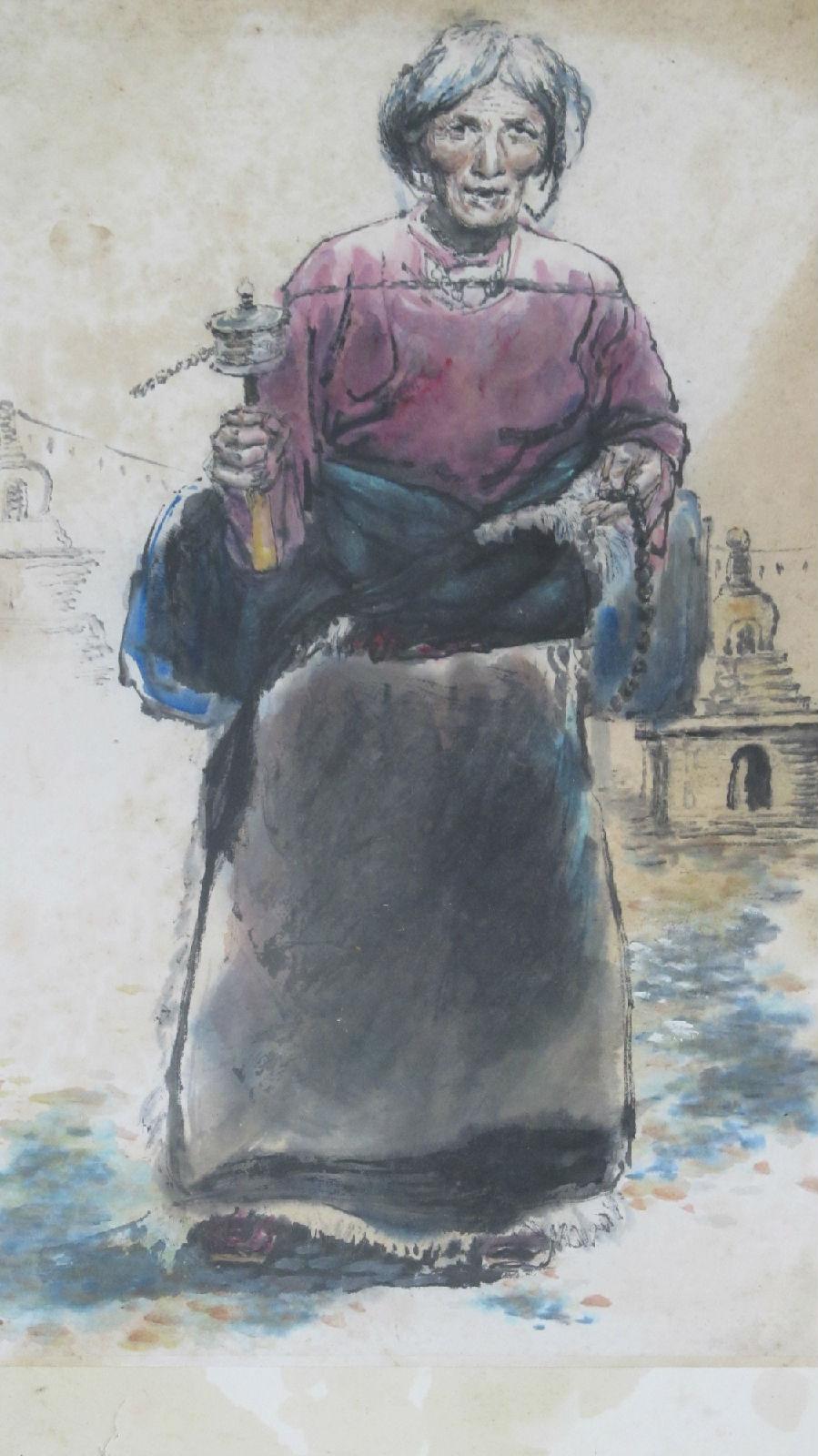 藏族老阿妈 和亭画廊的空间 百度空间