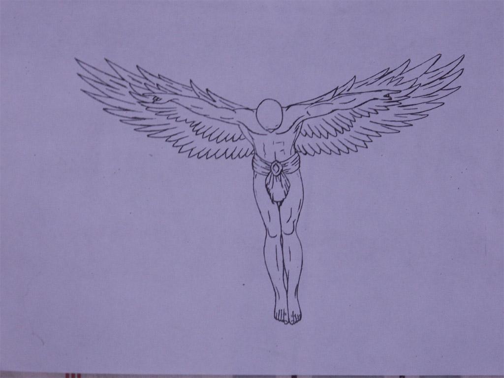 贝克汉姆腰部纹身手稿分享展示图片