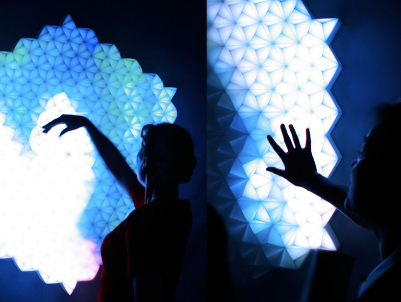 Super nature 39 new angles 39 interactive light installation for A new angle salon