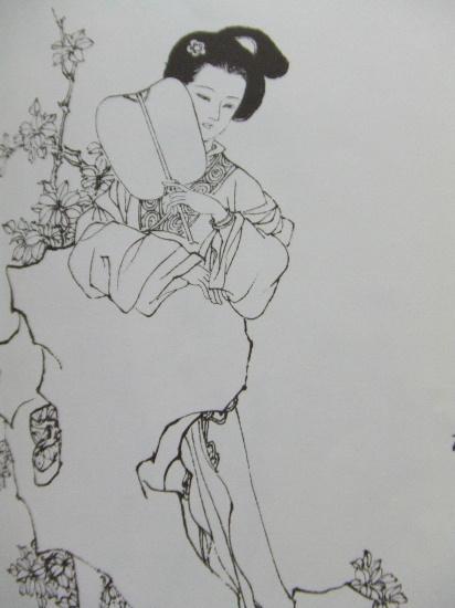 白描古代仕女人物图片