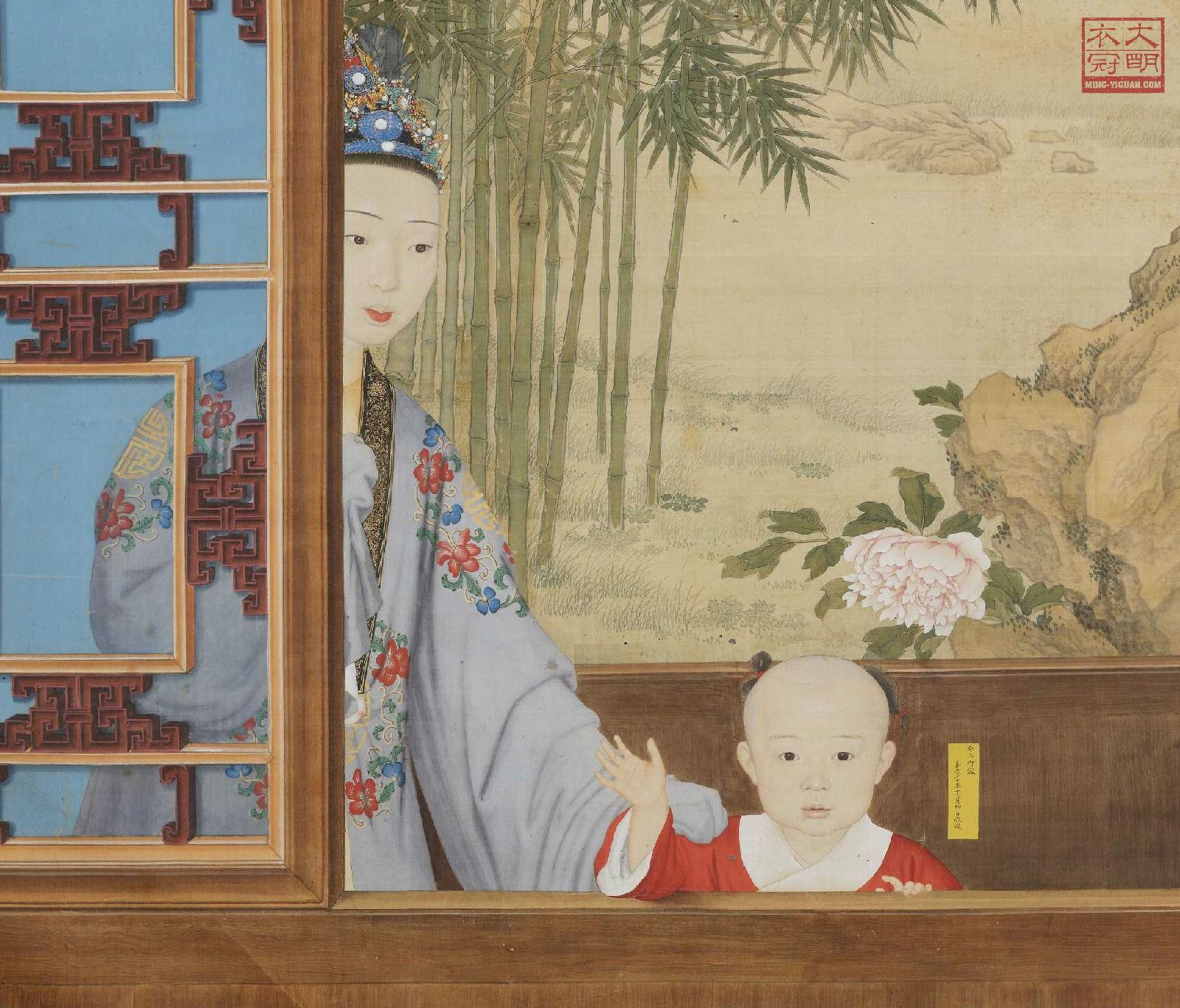 ... 左边的女子头戴狄訾,一身明中后期汉家女子服饰