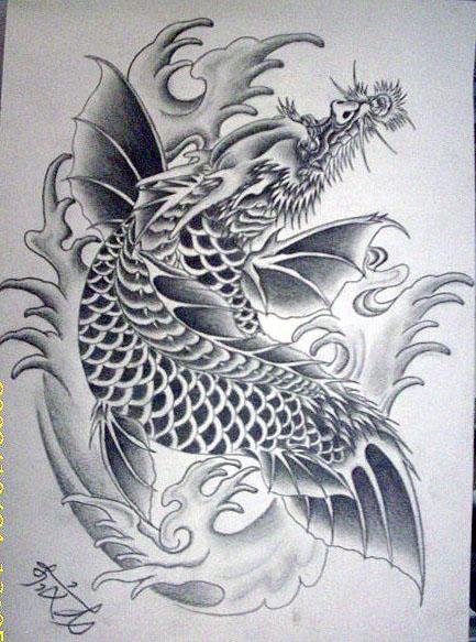 纹身图案或手稿图片
