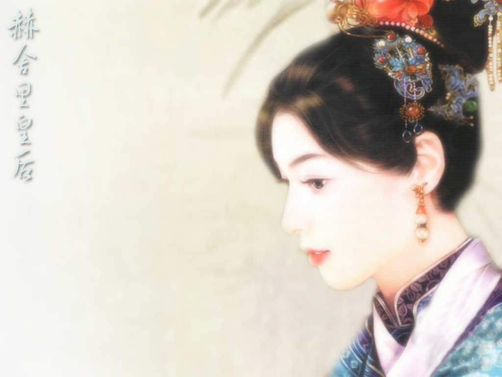 新找到的一些清朝女子的手绘图
