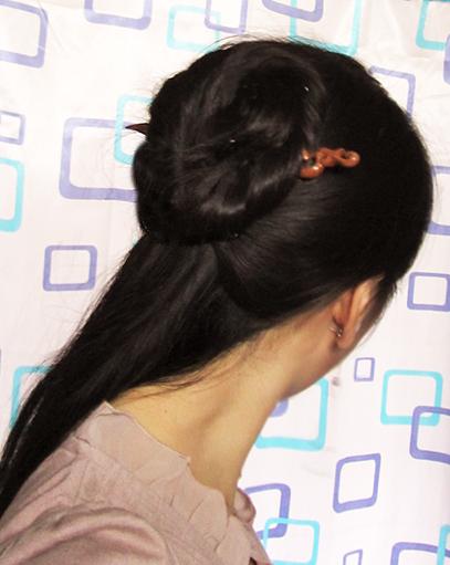 【盘发教程】第三弹,不用假发一根簪子搞定 (407x511)图片