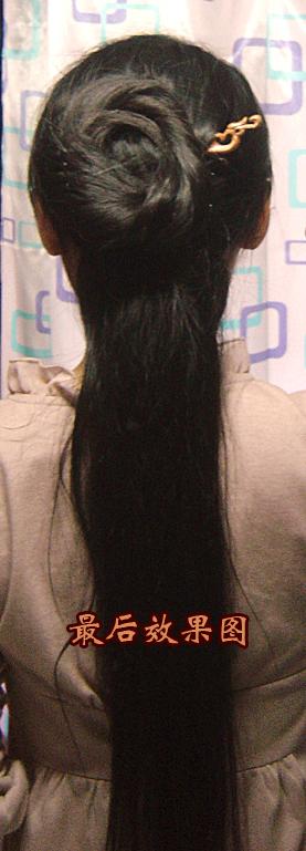 【盘发教程】第三弹,不用假发一根簪子搞定图片图片