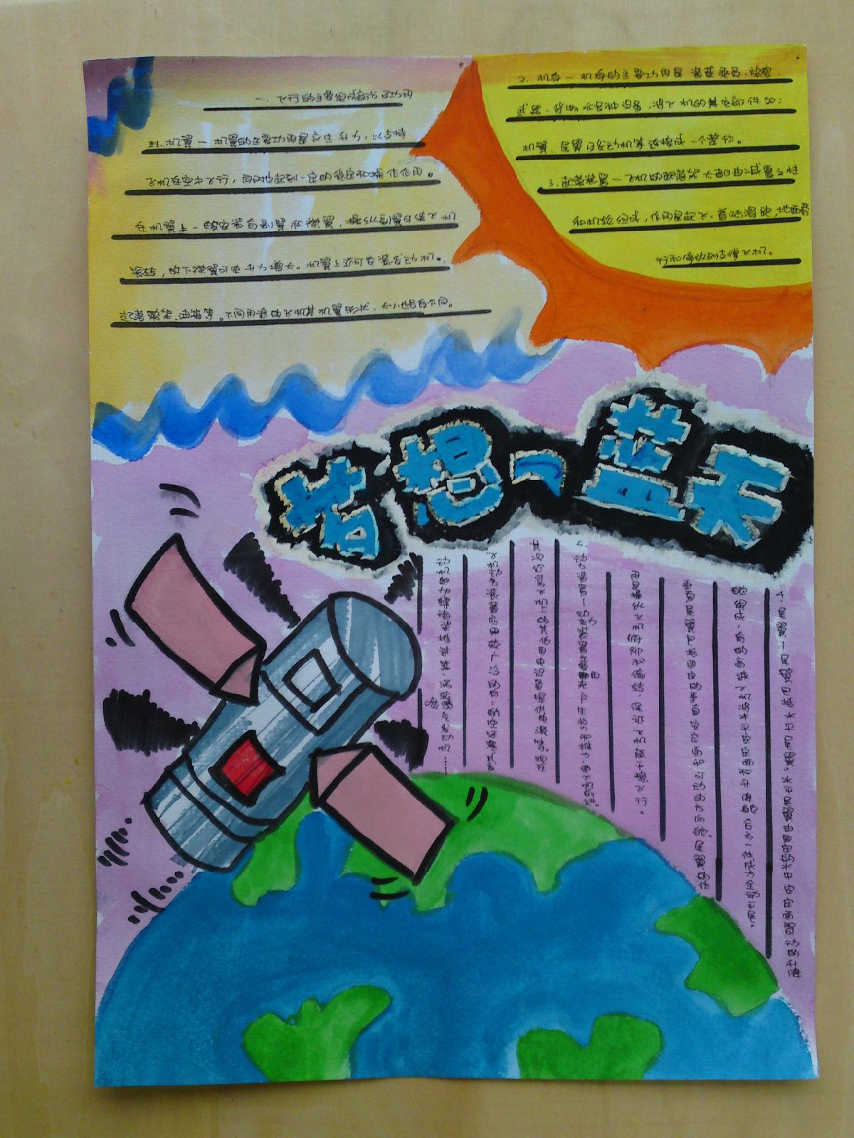 航空航天手抄报内容航空航天手抄报版面设计