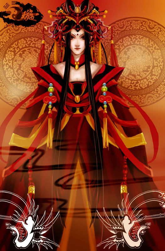 【手绘古装】【求图】红衣女子的图