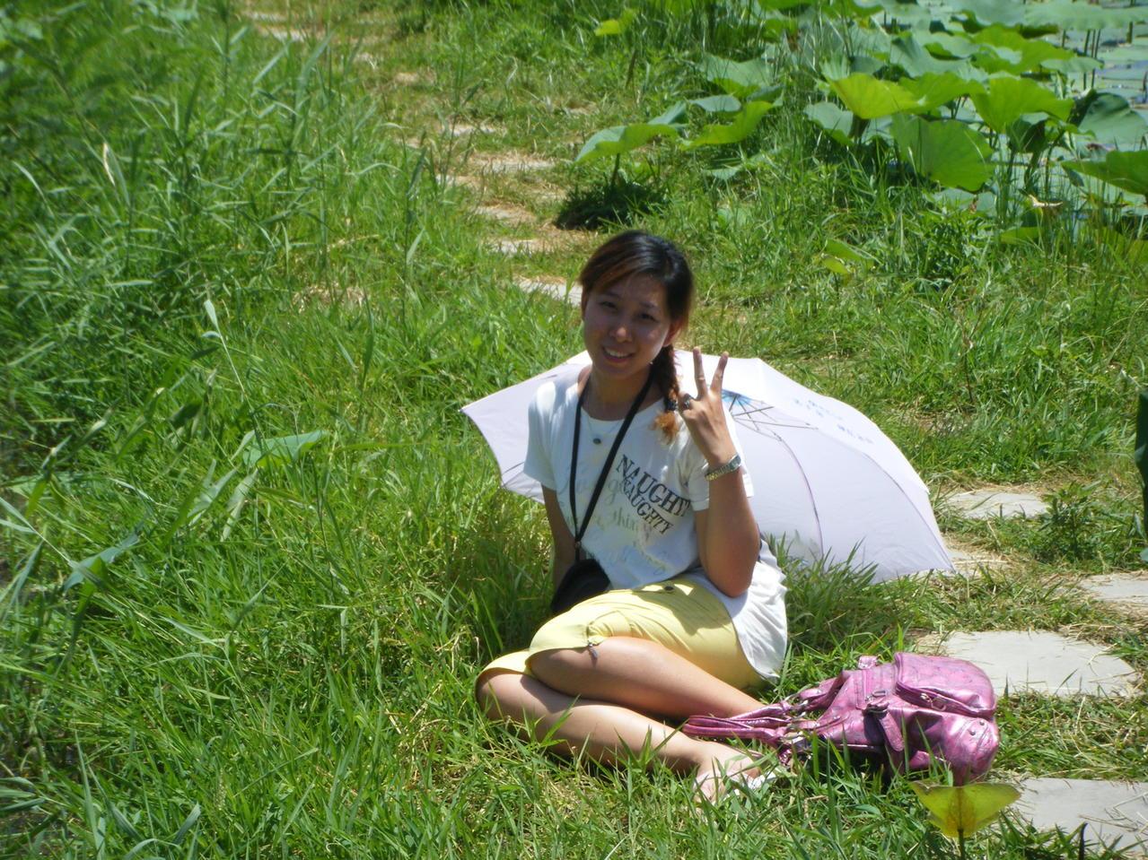 真想躺在草地上 充分享受阳光的照耀!