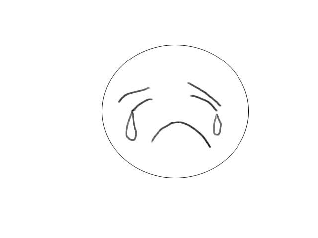 简笔画哭的表情图片展示