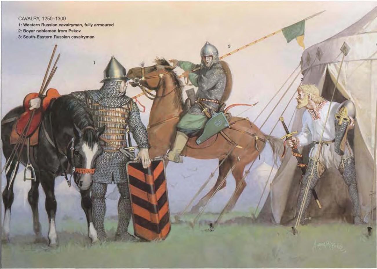 全身 铠甲 的 西部 俄罗斯 骑兵 2 来自 普斯科夫 的