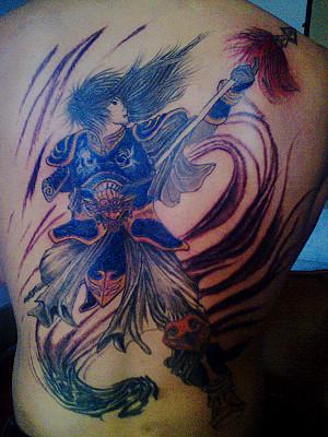 标签 人物纹身关公纹身手稿纹身