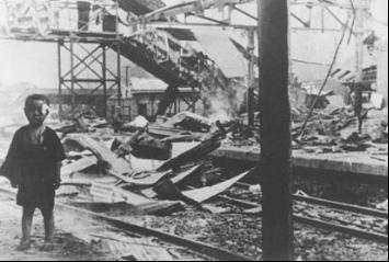 1937年8月28日日本侵略者轰炸上海南站的资料 - 斌斌 - 阳光男孩的博客