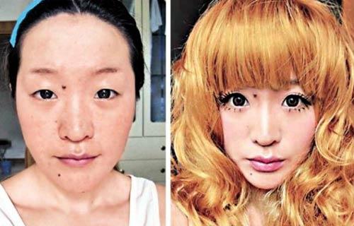 化妆若得体 丑女变美女