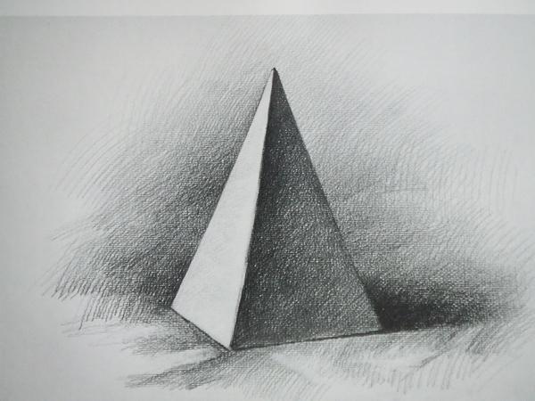 三角锥体素描三角体素描三角锥体图形