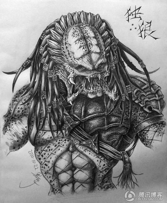 黑背杂记】铁血战士——独狼 绘制过程