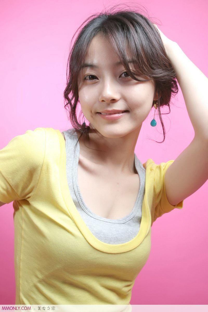 清纯天然素颜韩国美女照片