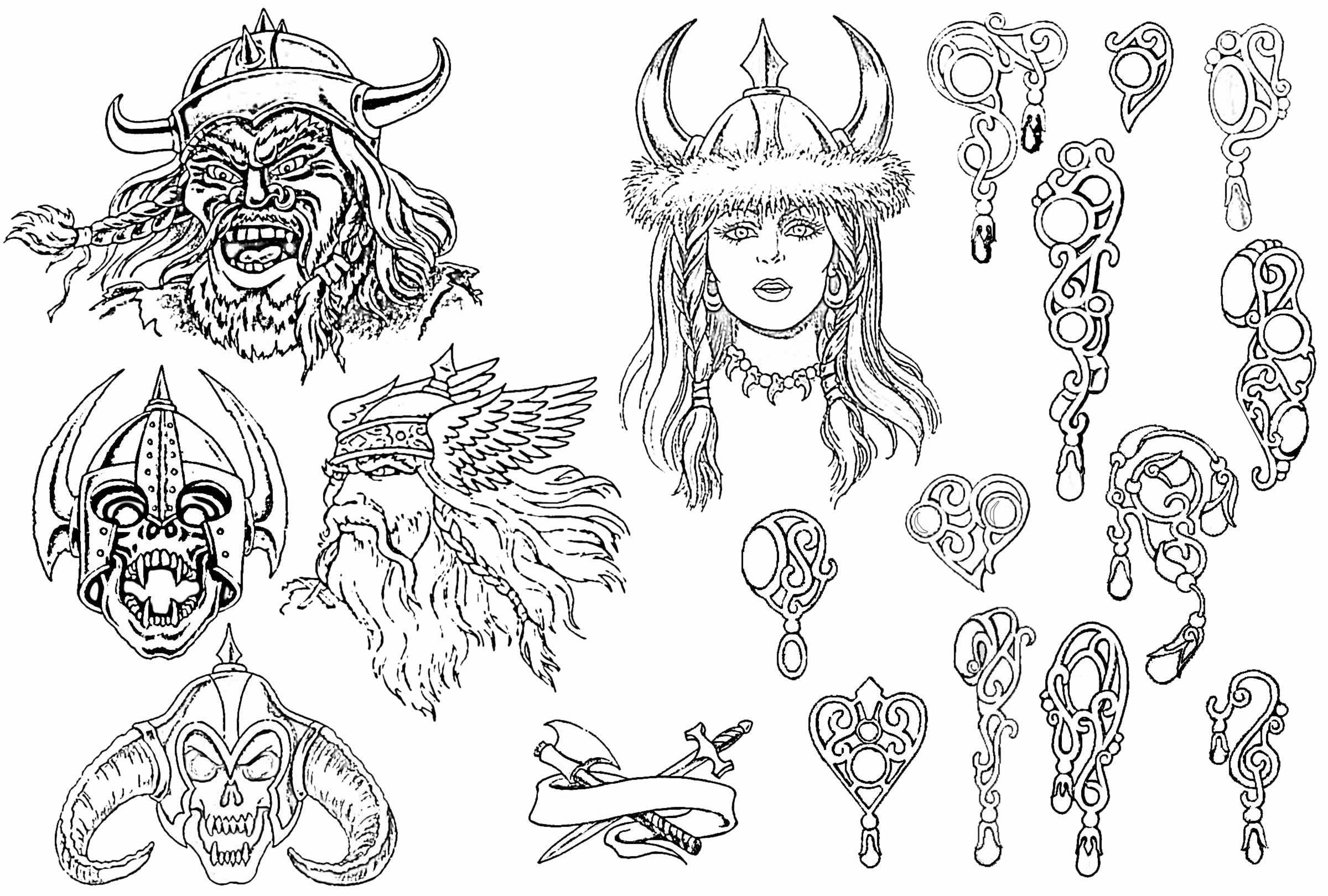 适合包小臂_包大臂_包腿的般若纹身手稿_北京派艺纹身店_纹身手稿割线图片