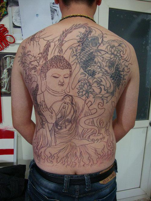 龙纹身::龙纹身::九条龙纹身图片