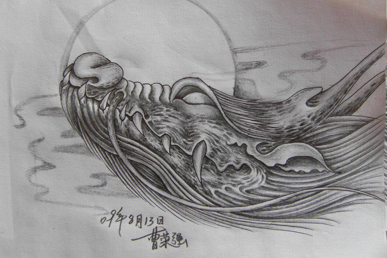 纹身图案 传统龙头纹身手稿 > 传统鲤鱼纹身图片及意义详解  传统鲤鱼图片