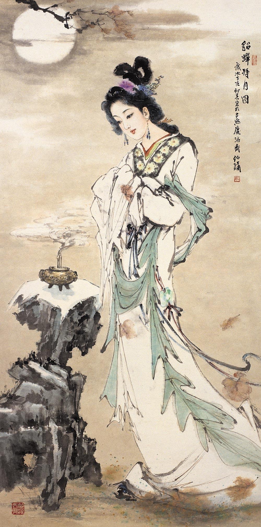 【中国古代四大美女】――水墨! 白伯骅>
