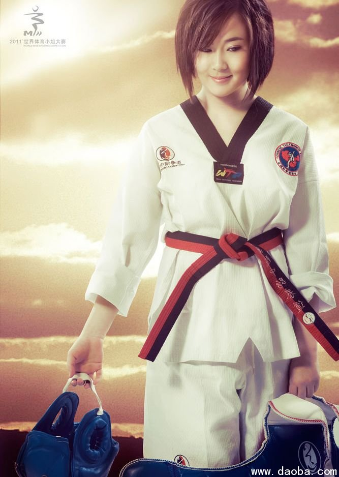 大赛 跆拳道美女