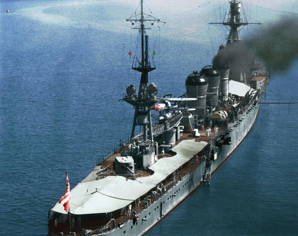 二战日本海军战舰彩色照片