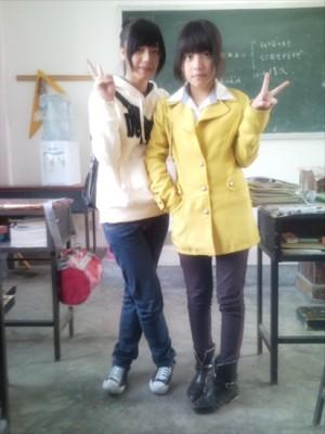 这两个女生身高多少啊?