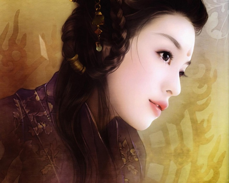 【醉月留痕】手绘古装美女之霓裳图片