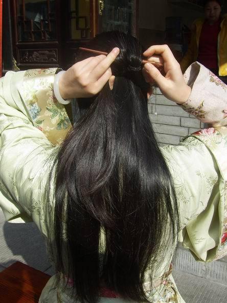 【不知水不水】很多妹纸所求的古代发型教程图片