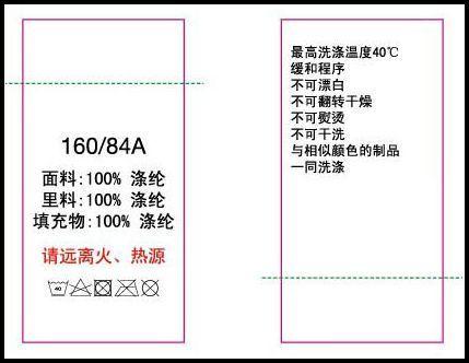 b),缝合,粘贴或悬挂在产品上的标签; c),直接印刷在产品包装上的使用