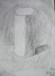 长方体正方体素描图片大全 跟我学素描 石膏几何体写生 连图片