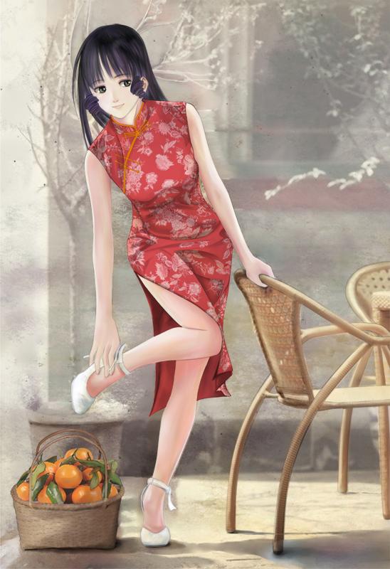 旗袍少女全彩