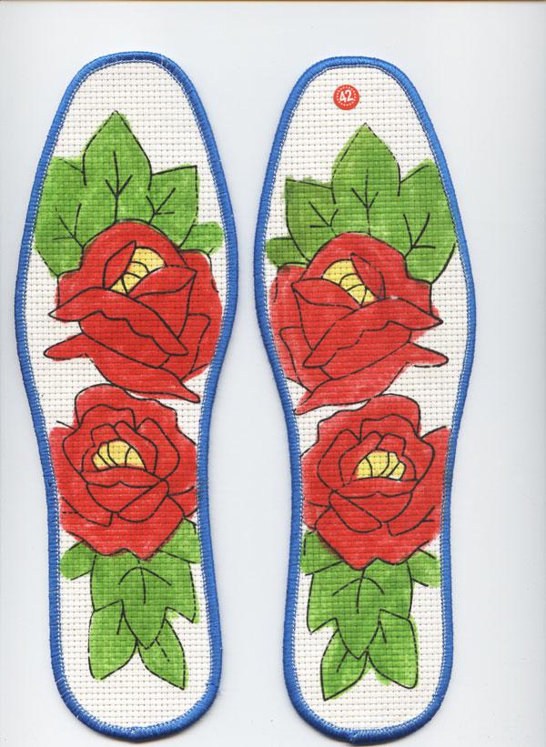十字绣鞋垫花样图纸 十字绣鞋垫花样图纸 丑妞十字绣鞋垫高清图片