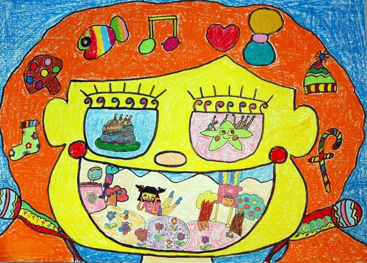 儿童画欣赏 - 美美 - 山师附小齐鲁合作学校三年级一图片