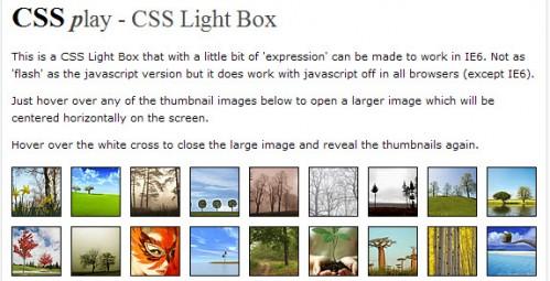 纯CSS无JavaScript的LightBox