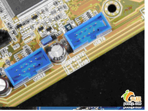 认识主板上的扩展前置USB跳线接口 图解安装过程图片