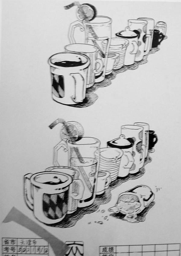 杯子创意设计速写_杯子创意设计速写分享展示图片