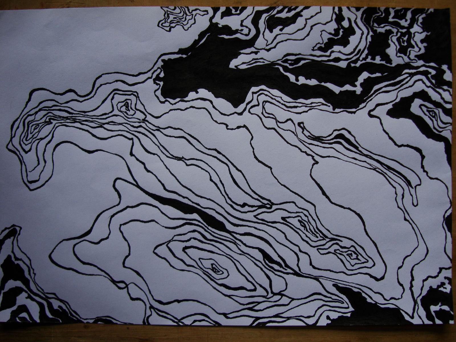 空间构成纸作业图片色构构成作业图片点线面构成 ...