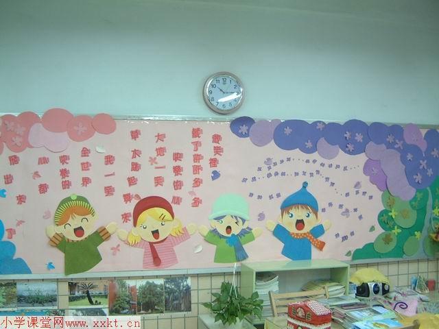 小学一二年级教室布置图片