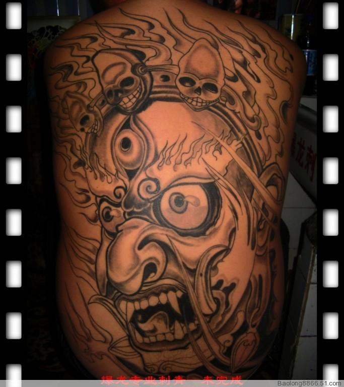 dnf阿修罗刷图加点_地狱鬼王_纹身图案图片