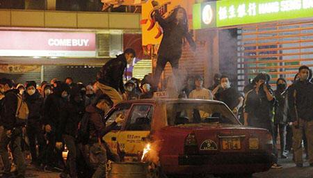 旺角暴乱两男子被判监禁3年