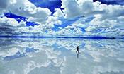 滑行在仙境-玻利维亚天空之镜
