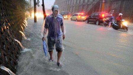 台湾东北部降雨成灾
